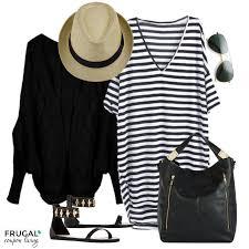 frugal fashion friday black u0026 white striped dress