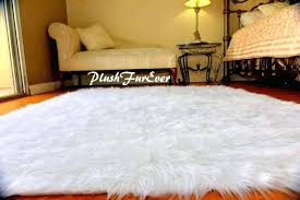 Fur Area Rug Black Faux Sheepskin Rug Roselawnlutheran Fur Rugs 8u0027 X