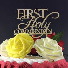 communion cake toppers sd 472 free shipping personalized holy communion wood