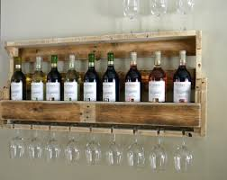 simple homemade wood wall wine rack design made from upcycled