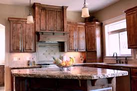 knotty wood kitchen cabinets kitchen decoration affordable custom cabinets showroom thumb kitchen traditional style knotty alder dark color custom wood hood appliance garage standard bar supports