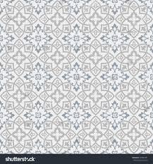 Morrocan Design Seamless Moroccan Pattern Grey Blue Tile Stock Vector 324062381