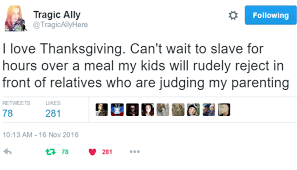 the parents of on surviving thanksgiving