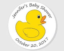 Yellow Duck Baby Shower Decorations Duck Baby Shower Etsy
