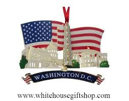 white house ornament american flag ornament undated