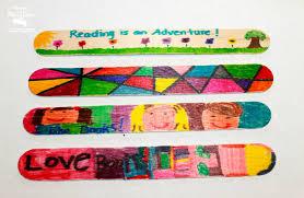 mom to 2 posh lil divas easy craft stick bookmark craft for kids