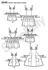 Womens Aprons View C Child And Womens Aprons Sewing Pattern 3949 Simplicity