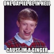 I M A Nerd Meme - one day ill be in hell cause im a ginger nerdy kid lolz meme