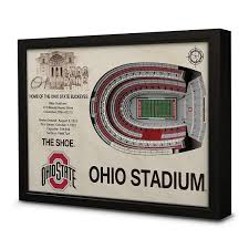 Ohio Stadium Map by Amazon Com Ncaa Ohio State Buckeyes Ohio Stadium Wall Art