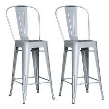 tabouret bar loft lot de 2 chaises de bar m tal loft laqu gris achat