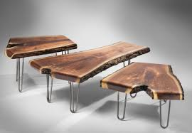 Hairpin Legs Coffee Table Furniture Numodern Rustic Table Set With Hairpin Legs