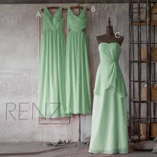 2016 mint green bridesmaid dress mix and match wedding dress
