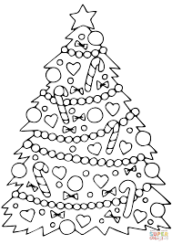 decorated christmas tree coloring page free printable coloring pages