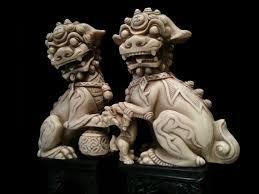 fu dog statues pair of italian foo dog statue sculpture fu by oldgloriestatesale