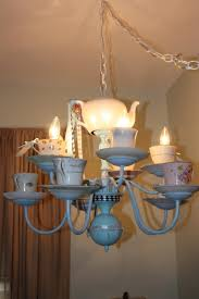Girly Chandeliers For Cheap 33 Best Tea Cup Chandeliers Images On Pinterest Chandeliers Tea