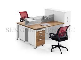 bureau 2 personnes moderne apparence durable petit bureau de poste de travail de bureau