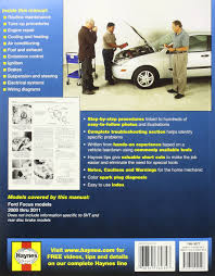 ford focus automotive repair manual 2000 2007 haynes automotive