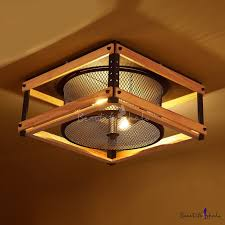 industrial flush mount ceiling lights 15 inches wide industrial led flush mount ceiling light with wood