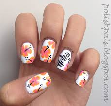 hawaiian flower nails nail art pinterest hawaiian flower summer