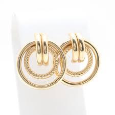 14k gold earrings 14k yellow gold earrings ebth