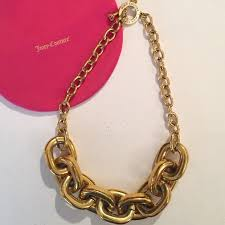 red chain link necklace images Juicy couture jewelry large chunky chain link necklace poshmark jpg