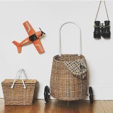 kids picnic basket olli ella wheeled trolley luggy basket and kids picnic basket