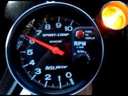auto meter sport comp 3904 dia 09 11 2010 youtube