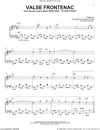 winston valse de frontenac sheet for piano