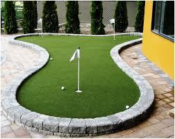 backyards superb putting green for backyard backyard ideas