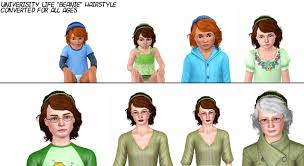 the sims 3 hairstyles and their expansion pack mod the sims university life beanie hairstyle for all ages and
