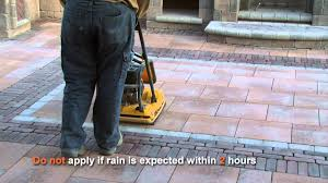 How To Seal A Paver Patio by How To Use Polymeric Sand Youtube