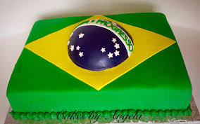 Flag Cakes Brazilian Flag Cake And Cookies Cakes By Angela Marie
