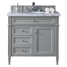 stufurhome rochester 36 in grey single sink bathroom vanity with
