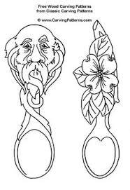 face and flower spoons free wood carving patterns spoon