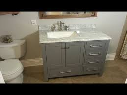How To Replace A Bathtub How To Replace A Bathroom Vanity The Handyman Youtube