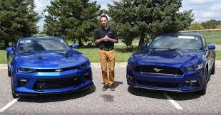 2013 ford mustang gt vs camaro ss 2016 ford mustang gt vs 2016 chevrolet camaro ss car