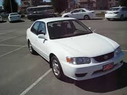 2001 toyota corolla value sold 2001 white toyota corolla le for sale at valley toyota