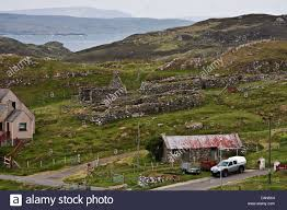 Small Cottages by Isle Of Lewis Outer Hebrides Scotland Villages Of Small
