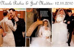 richie wedding dress richie weds joel madden on 12 11 2010 wears 3 marchesa wedding