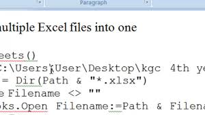 how to combine multiple excel files into one youtube