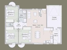 superficie chambre maison en ossature bois kotibé 84 m plan maison