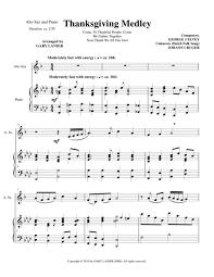 thanksgiving medley alto sax piano with alto sax part