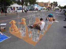 interactive 3d chalk art street paintings by tracy lee stum