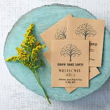 wildflower seed packets personalised grow some seed favour by wildflower favours