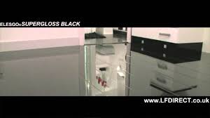 Laminate Flooring High Gloss Elesgo Black High Gloss Laminate Floor Youtube