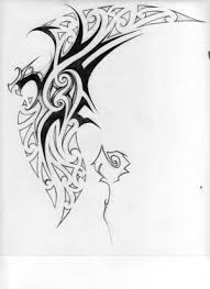 tribal broken heart tattoo design photos pictures and sketches