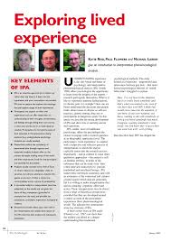 exploring lived experience pdf download available