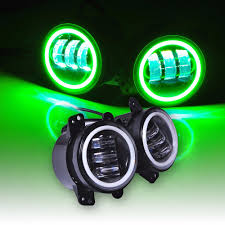 4 inch round led lights for jeep wrangler foglights 60w 4 inch round led fog light green