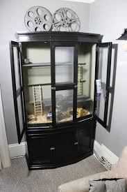 rat cabinet from a dinning room hutch 5 steps with pictures
