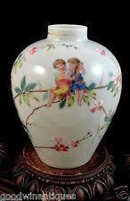 Victorian Glass Vase Antique Bohemian Victorian Floral Hand Painted Enamel Art Glass
